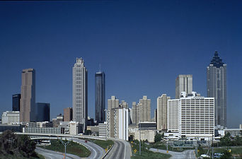 Peachtree Center, downtown Atlanta, GA, 1992
