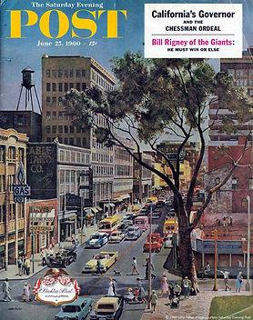 Cover of Saturday Evening Post, 1960. Atlanta Merchandise Mart under construction.