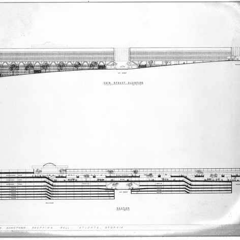 Proposed Downtown Shopping Mall, 1964