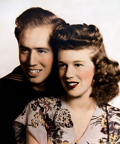 John and Jan Portman, wedding photo, 1944