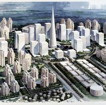 Qiantang River City Master Plan, 1994