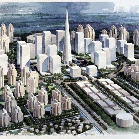 Qiantang River City Master Plan, 1994
