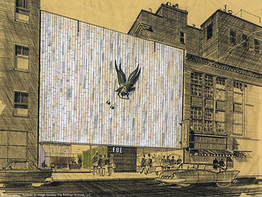 Fraternal Order of Eagles, rendering, 1956