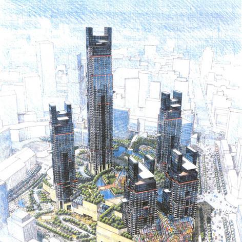 Putuo Center Master Plan, 1998