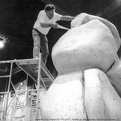 MrPortman_BW_atWorkOnSculpture_edited sq