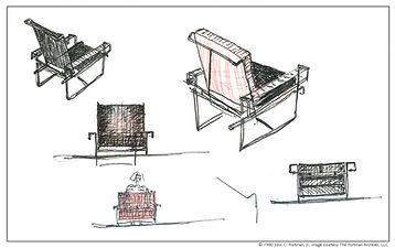 chair sketches, John C. Portman, Jr.