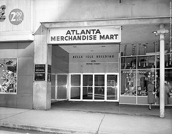 Atlanta Merchandise Mart in Belle Isle Building, 1960. Image courtesy Georgia State University.