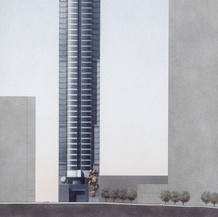 Proposed 155 Peachtree Building, 1988