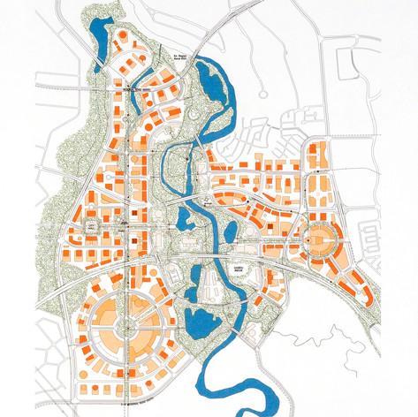 Bumi Serpong Damai New Town Master Plan, 1996