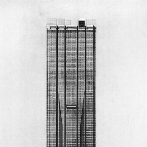 Proposed 70-story Office Tower, 1968