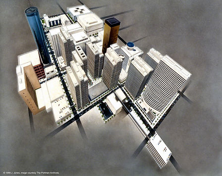 Peachtree Center, rendering, 1988.