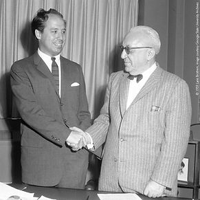 John C. Portman, Jr. and Ben Massell, loan agreement, Atlanta Merchandise Mart, photo courtesy GSU.