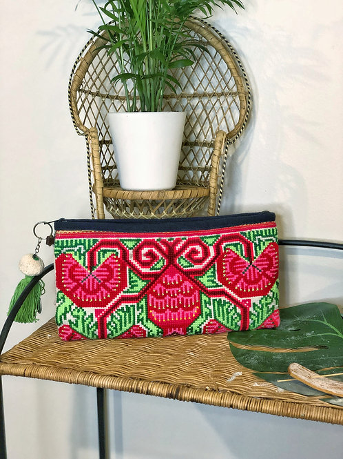 Double Sided Cross-Stitched Clutch
