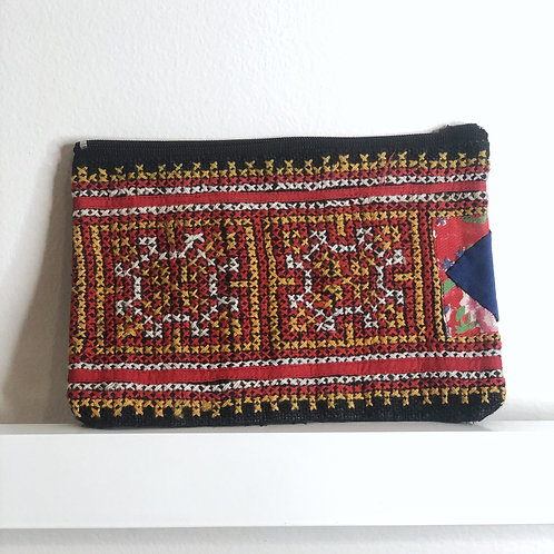 Cross-Stitched Pouch