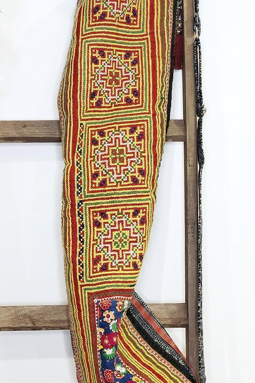 Cross-Stitch/Batik Yoga Bag