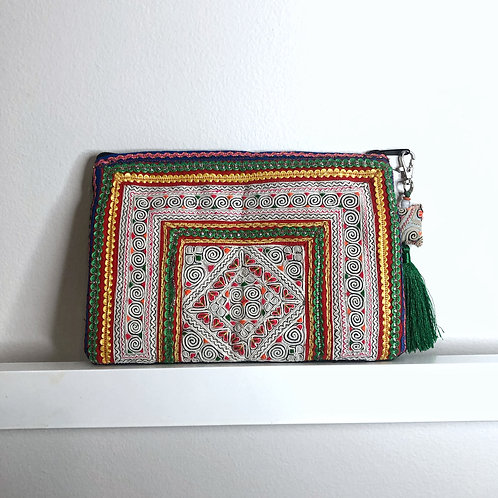 Hmong Embroidered Clutch