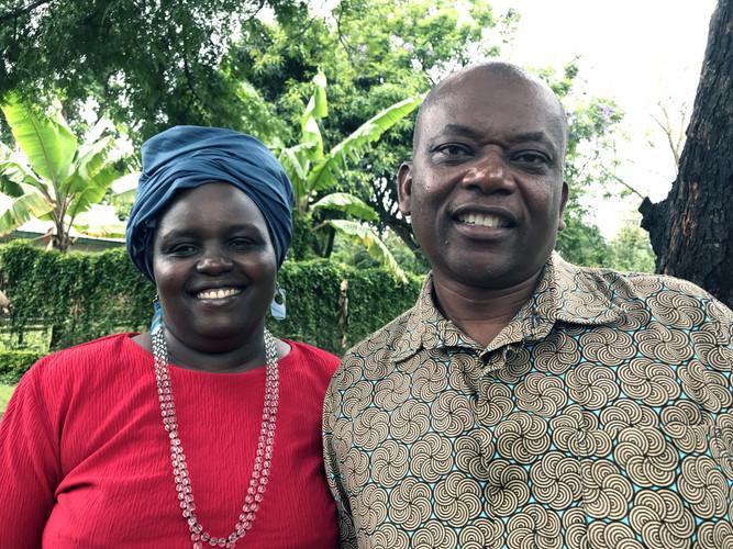 Davis Manana and his wife Mary