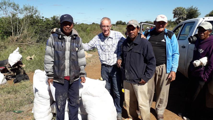 Distributing supplies after 2019 Flood