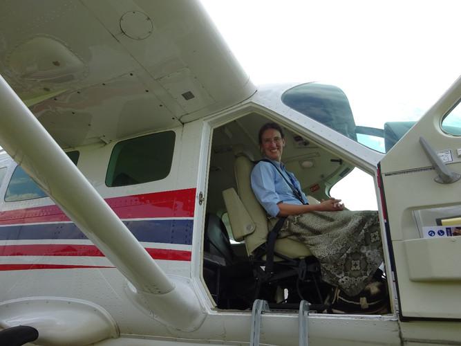 Front seat passenger en route to Gorok