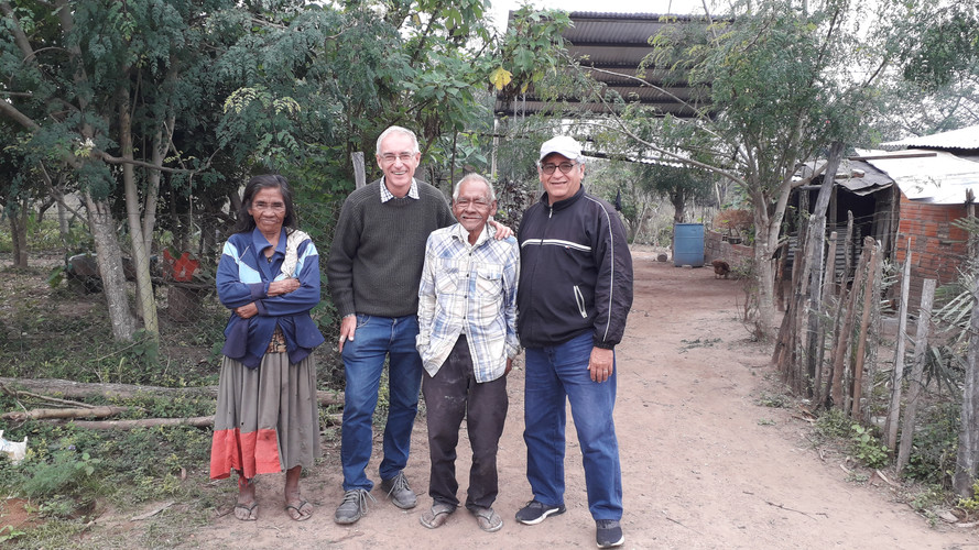 Tim with retired indigenous pastor Niño Pepe & his wife & Pastor Agustin - June 19th 2019