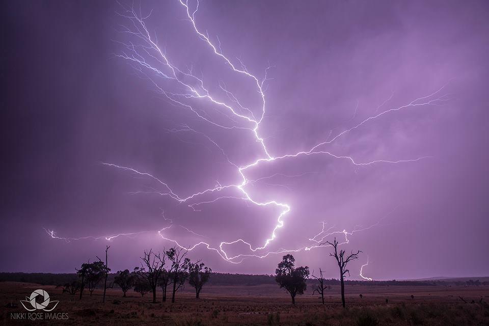 Lightning over Warialda NSW