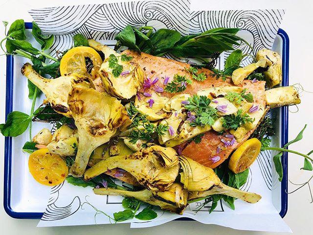 Whole Roasted Wild Salmon Filet + Artich