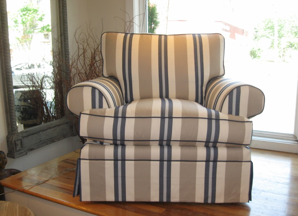 Hickory White Upholstered Armchair