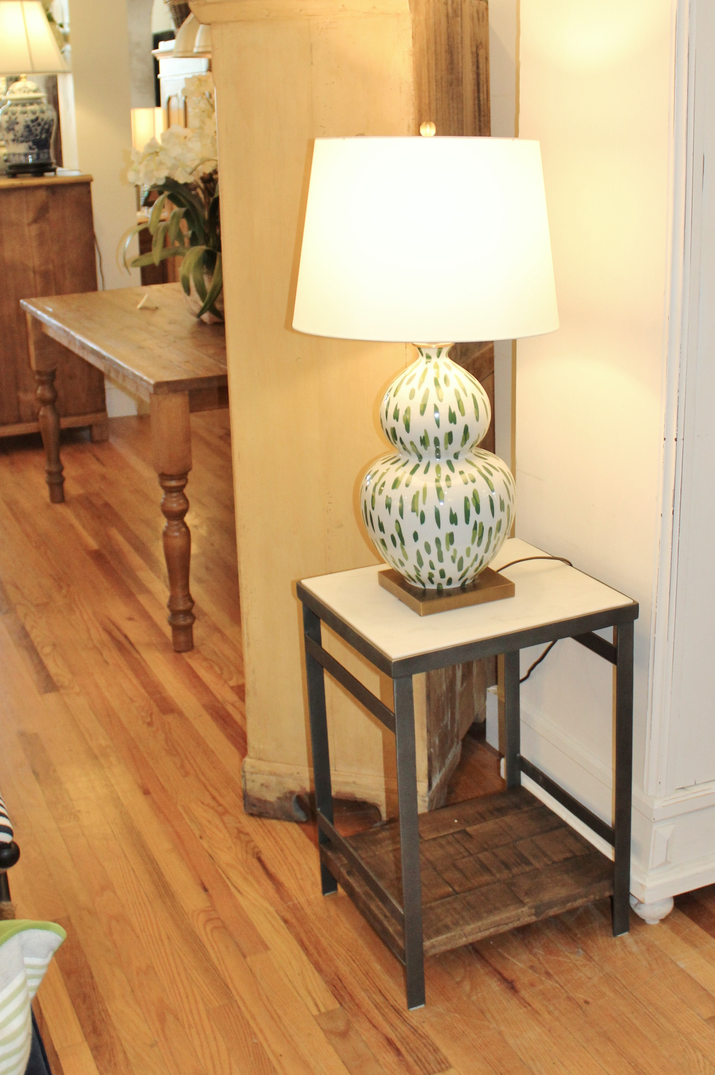 Side Table w/a marble top