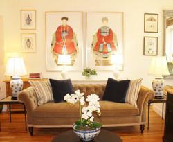 Hickory White Chesterfield Sofa
