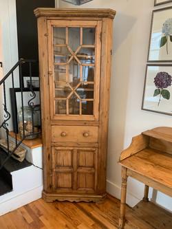 Antique Irish Pine Corner Cupboard
