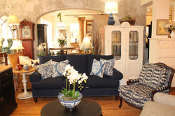 The Classic Navy Blue Sofa