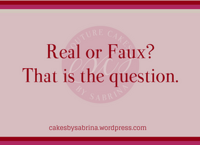 Real or Faux Cake? That is the question.