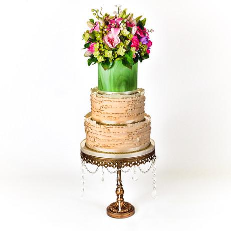 Spring Garden Ruffle Wedding Cake
