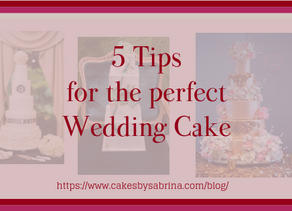 5 Tips for the perfect Wedding Cake