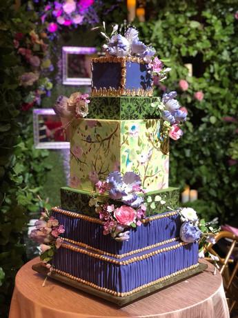 Celadon Chinoserie Wedding Cake