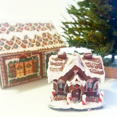 Dollhouse miniature gingerbread house