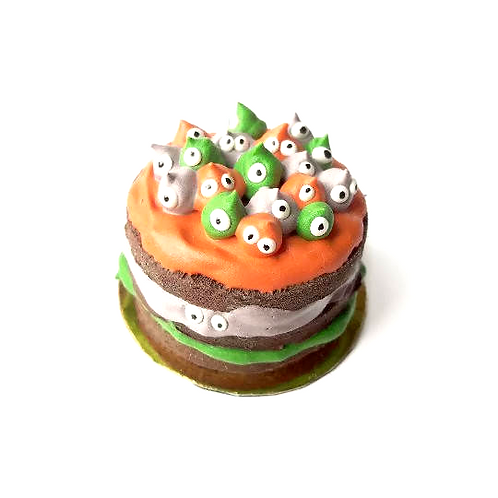 1:12 dollhouse miniature halloween meringue monster cake