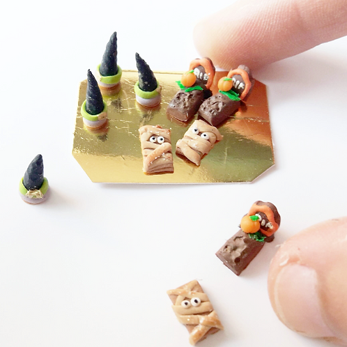 1:12 dollhouse miniature halloween mini pastry