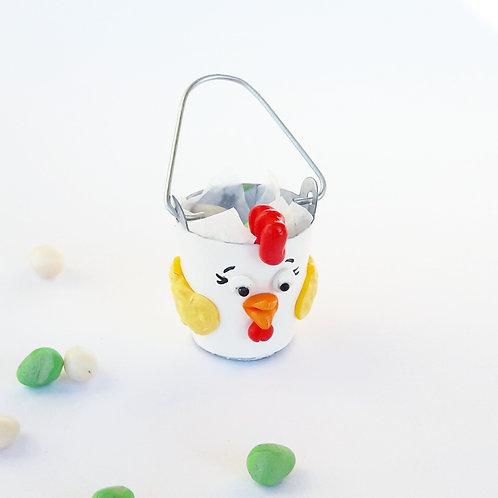 1:12 Dollhouse miniature Easter treats bucket