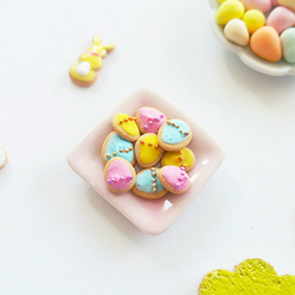 Dollhouse miniature Easter cookies