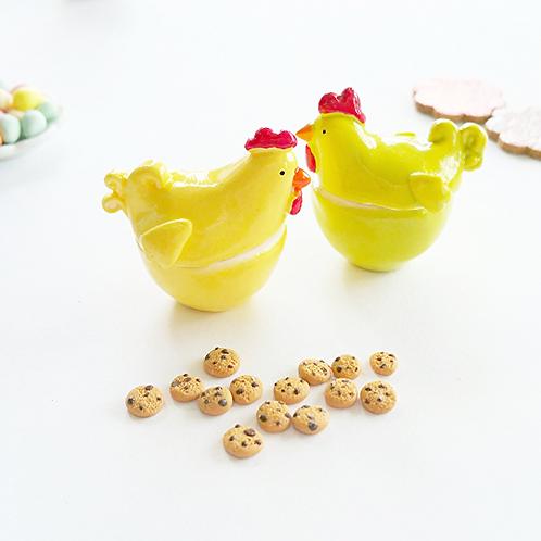 Dollhouse miniature 1:12 Easter hen cookie jar