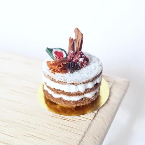 Gourmet dollhouse miniature cake scale 1:12