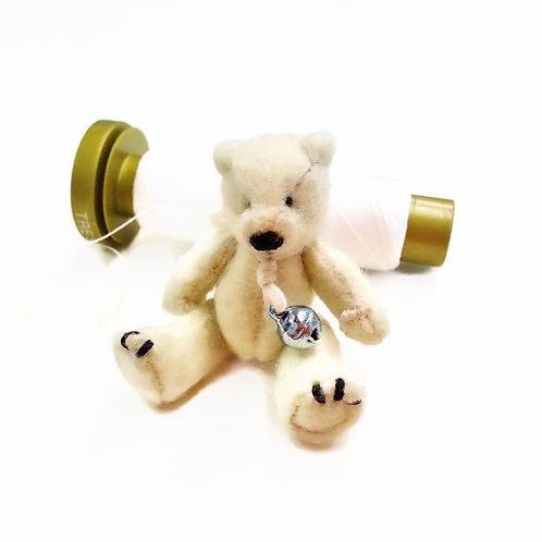 Miniature 1:12 felted teddy bear