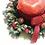 Thumbnail: 1:12 dollhouse Christmas wreath candle