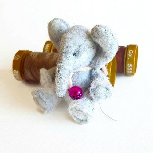 1:12 Dollhouse Miniature felted elephant toy