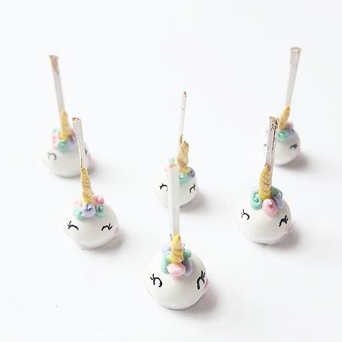 1:12 dollhouse miniature food unicorn cake pops