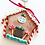 Thumbnail: Miniature gingerbread house Christmas tree ornament