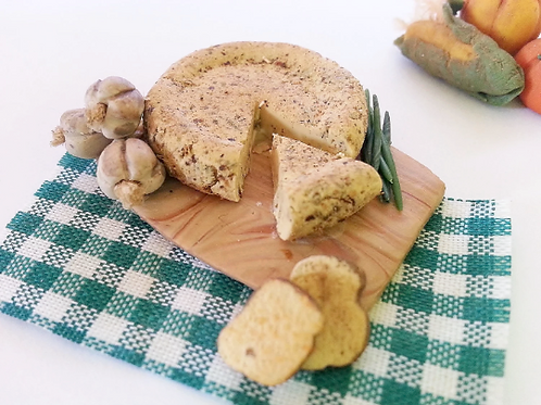 1:12 dollhouse miniature cheese platter