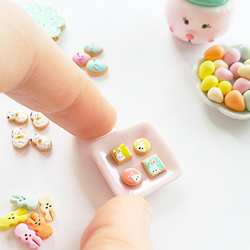 Dollhouse miniature Easter cookies 1:12