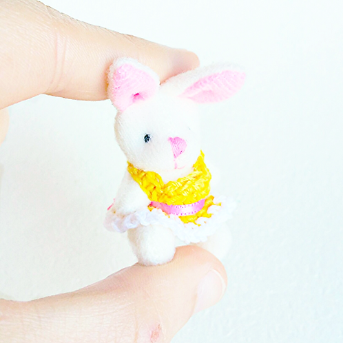 1:12 Miniature dollhouse bunny teddy bear toy